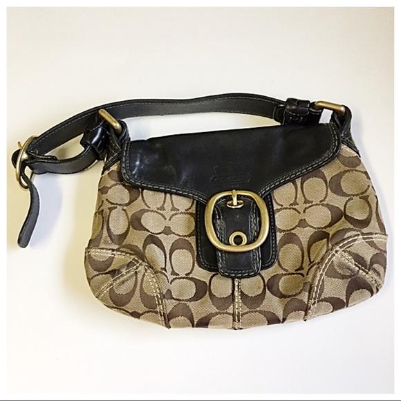 Coach Handbags - Coach Signature C Leather Handbag Mini Bleeker